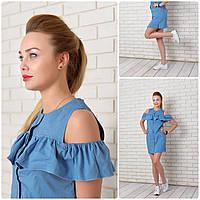 Платье-рубашка 906 джинс, фото 1