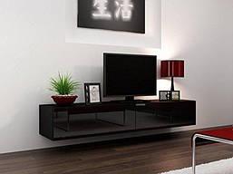 Подвесная тумба под телевизор Лотос, черный