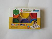 818990 Пальчиковые краски, 6цветов,180мл., 941-1F