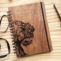 "Деревянный блокнот ""Символ Жизни"" А6 (бумага 105х148 мм), фото 1"