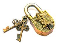 """Замок навесной бронзовый """"Радха Кришна"""""""
