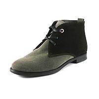 Ботинки демисез женск VOG VG004-1 серо-коричневая замша