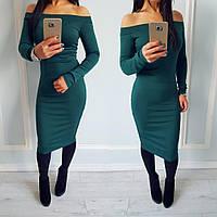 Платье женское Бархат бутылка  , вечерние платья