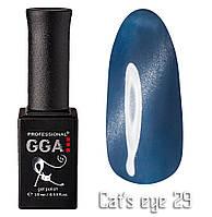 Гель лак GGA Professional кошачий глаз + термо