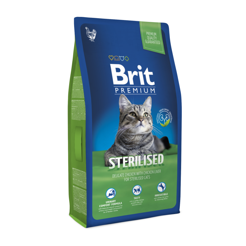 Brit Premium STERILIZED 1.5 кг - корм с мясом курицы для стерилизованых кошек и котов