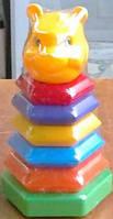 "Пирамидка-качалка ""Медведь"", 26*13см, (18шт), ТМ M-toys(130469)"
