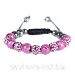 черный браслет шамбала женский  01brblack-purple