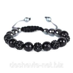 Женский браслет шамбала черного цвета 01brblack купить браслеты дешево оптом