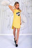 Красивое короткое  платье - туника