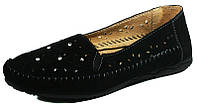 Мокасины женские Comfort 63027BLZ черная замша