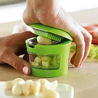 Измельчитель для чеснока чеснокодавка Kitchen&Home Garlic Chopper 2 насадки