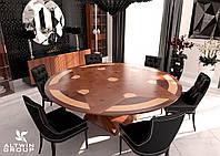 Круглый раскладной стол трансформер, фото 1