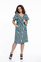 Платье халат в полоску.  Большие размеры. Разные цвета.