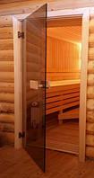 Двери для бани PAL, бронза, 80х200