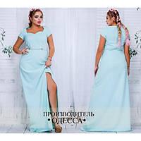 Вечернее платье с украшением батал