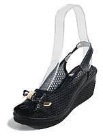 Босоножки женские Comfort 60912BL черная кожа