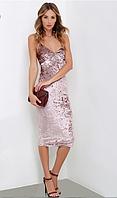 Платье с открытой спиной из бархата, фото 1