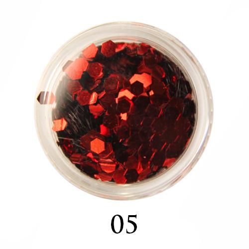 Блестки-многогранники для декора  Adore №5 Красный
