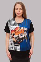 "Футболка ""Мода"" для женщин из Турции, батал, 46-50 р-ры, 370/330 (цена за 1 шт. + 40 гр.)"