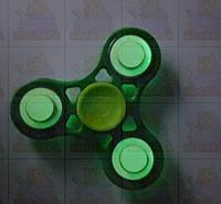 Спиннер Светящийся Зеленый с подшипниками Украина  Hand spinner,  finger spinner Игрушка Антистресс