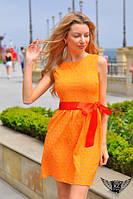 Летнее коротенькое платье из набивной креп тафты