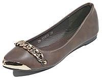 Балетки женские Vivien Q4-1006тв коричневый