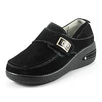 Мокасины женские Zoja's shoes 523-7 черная замша