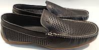Мокасины летние мужские натуральная кожа р39-45 BANDINELLI 4715 черные