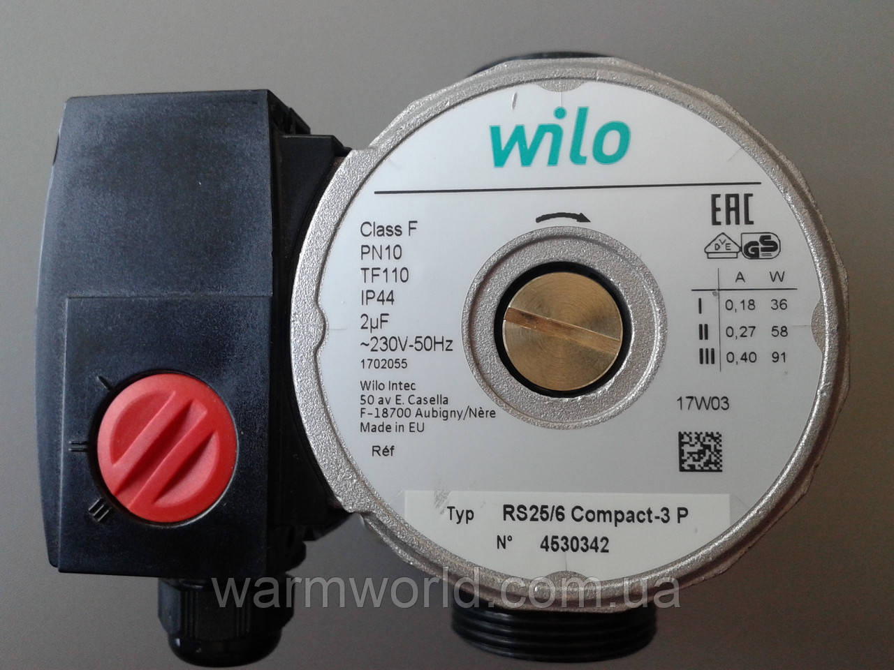 Циркуляционный насос Wilo RS 25/6-130 серый