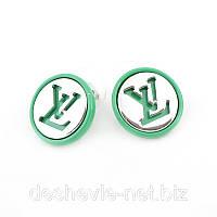 Миленькие зеленые серьги женские со скидкой 014SRs-green