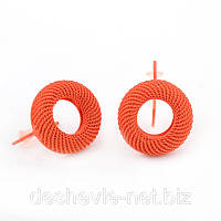 Серьги женские оранжевого цвета 012SRorange интернет-магазин сережек бижутерия