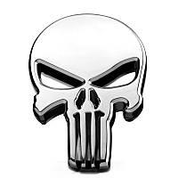 3D эмблема череп - Каратель хром