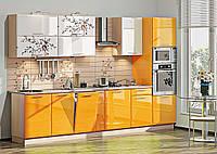 """Кухня """"Хай-Тек"""" цветная.Мебель ф-ки Комфорт."""