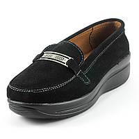 Мокасины женские Zoja's shoes 75216 черная замша