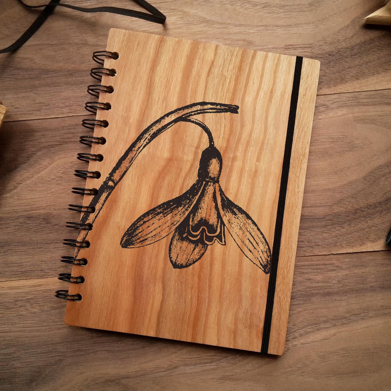 "Деревянный блокнот ""Нарцисс"" А6 (бумага 105х148 мм), фото 1"