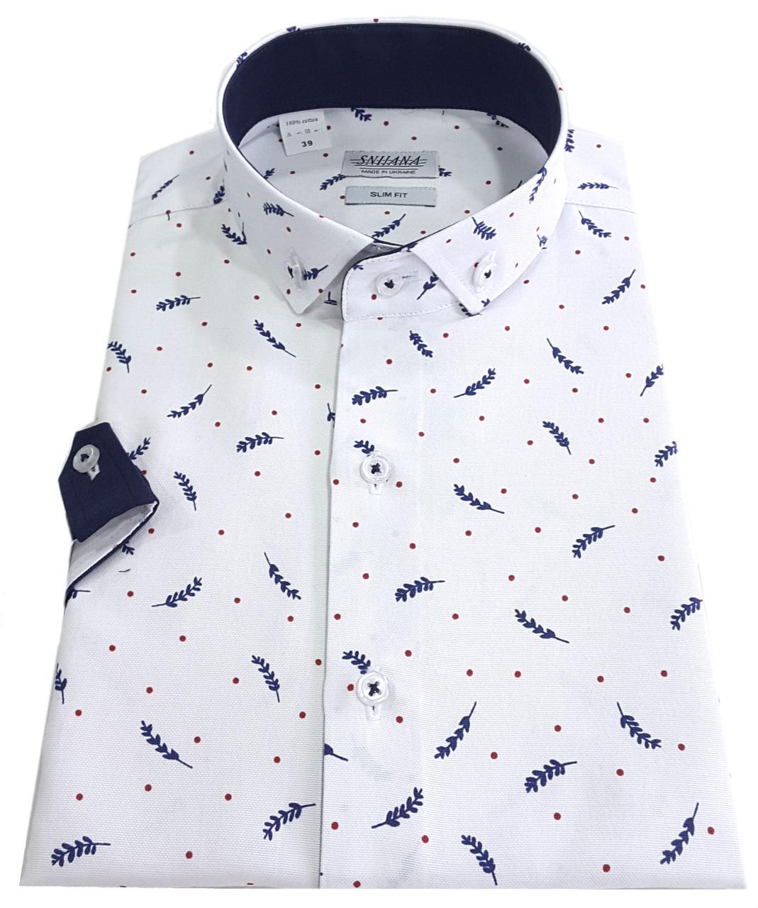 Мужская рубашка с коротким рукавом № 12-29 - 3-1010 V1
