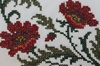 Вышивка рисунка на одежде и ткани