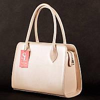 Розовая дамская сумка 1346pudra деловая классика
