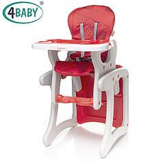 Стульчик-парта трансформер 4baby - Fashion Red (красный)