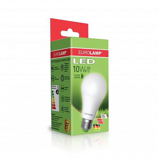 LED Лампа EUROLAMP ЕКО A60 10W E27 3000K