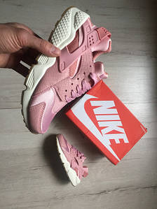 Женские кроссовки  Nike WMNS Air Huarache Run Premium (pink / white) AT-505