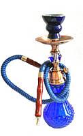 Новый кальян на 1 трубку 37 см (арт. М2-5) на подарок парню 1, Сталь, Синий