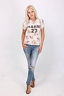 Женская футболка в цветочный принт, фото 1