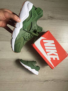 Женские кроссовки Nike Wmns Air Huarache Run Premium - Palm Green AT-506