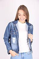 Модный женский пиджак джинс