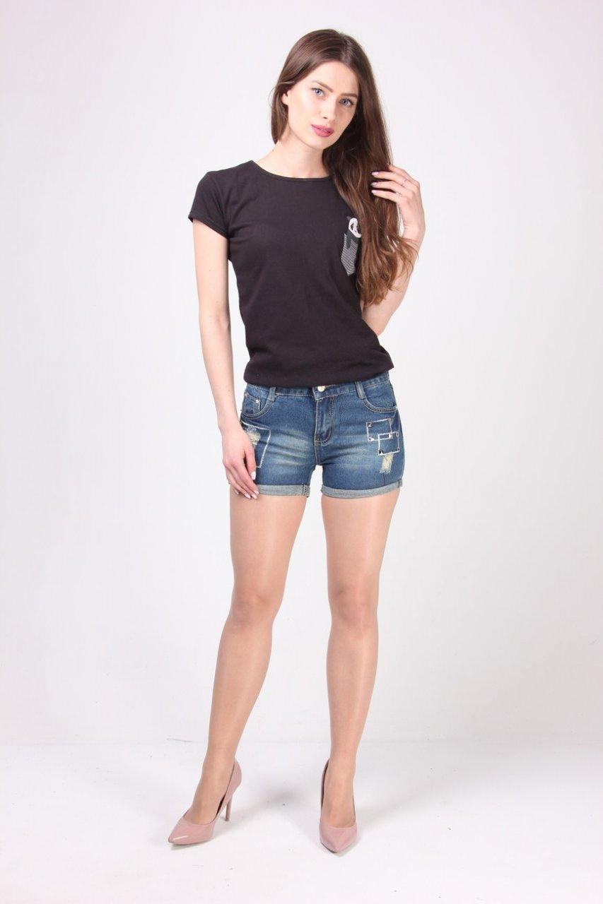 Оригинальные женские шорты джинс