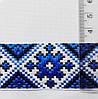 Лента  с  украинским  орнаментом 31 мм  голуб. с черн., фото 3