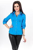 """Хлопковая женская рубашка """"Дайна"""" с четвертным рукавом (3 цвета)"""