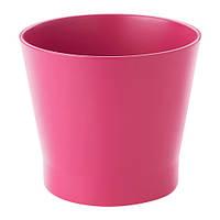 """ИКЕА """"ПАПАЙА"""" Кашпо, розовый, 12 см"""