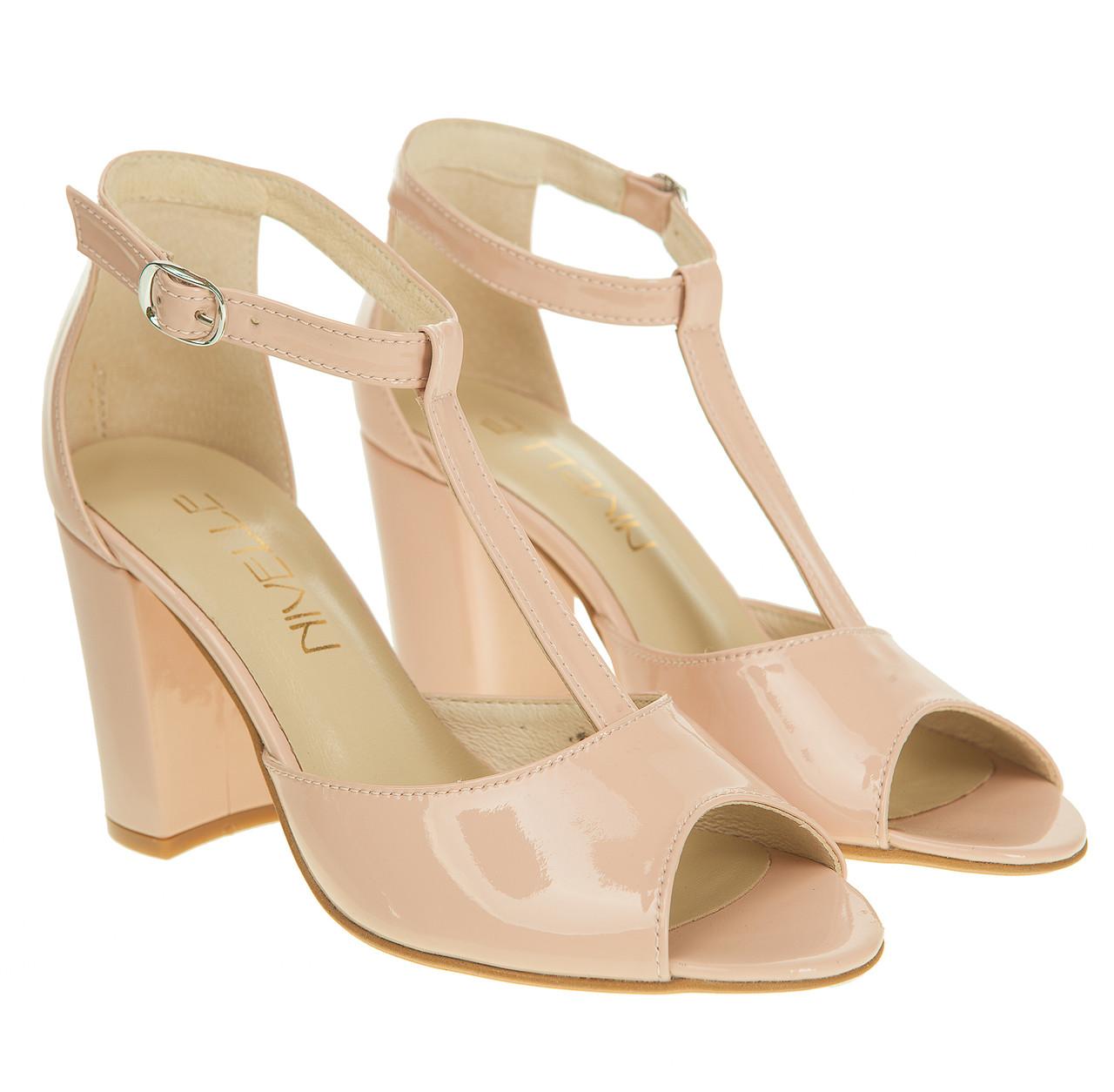3f6f6398ee17f9 Босоножки женские Nivelle (изысканный оттенок розовой пудры, удобный  каблук, Т-ремешок)